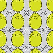 Simple Line Modern Minimalist Easter Egg Seamless Pattern on Grey. Geometric