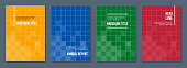 modern minimalistic abstract squared covers set, vector illustration