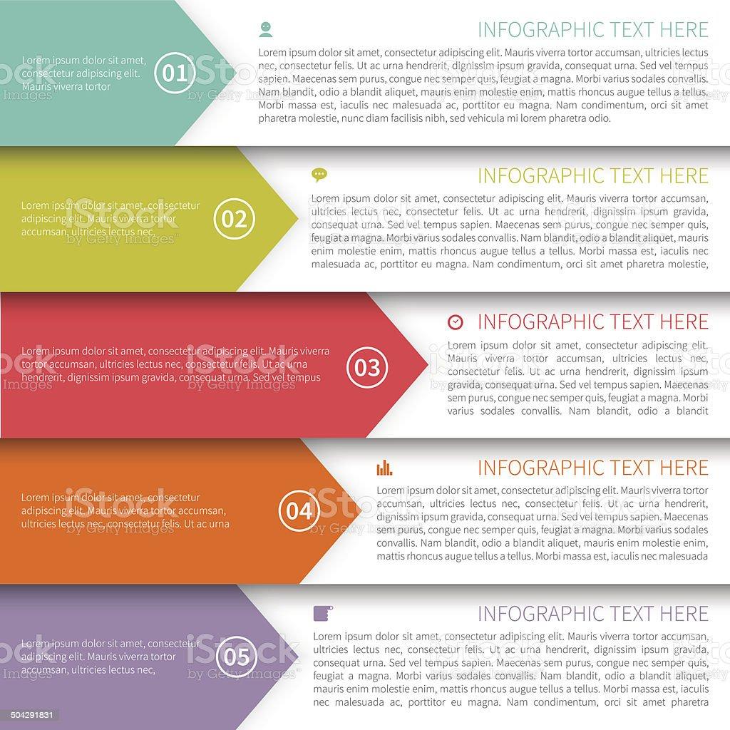 Modern Minimalistic  Infographics Template vector art illustration