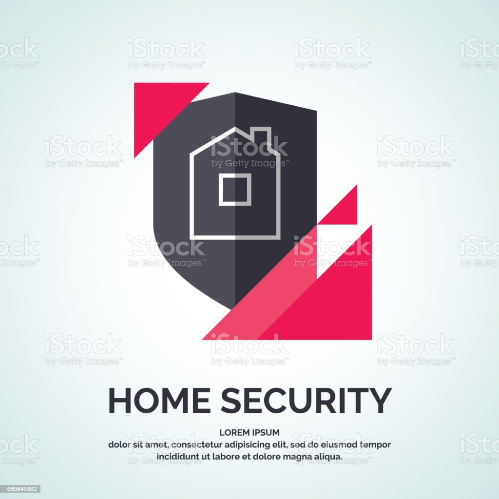 Modern Minimalistic Vector Logo Design For Home Security Stock ...