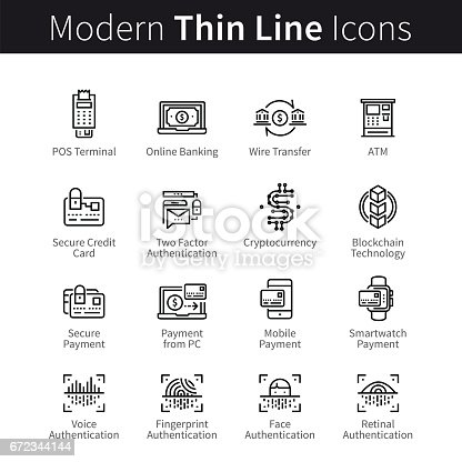 Modern Mobile And Desktop Security Icons Stock Vector Art