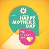 Modern mother's day card design.