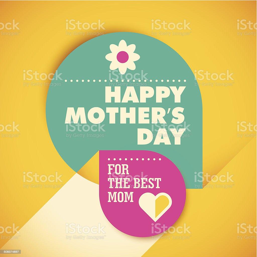 Moderne mother's day card design. – Vektorgrafik