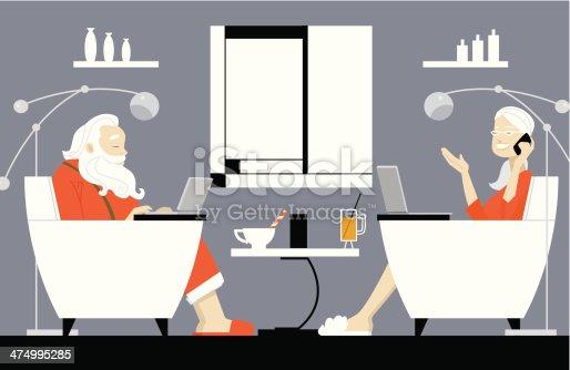 istock Modern Mr Mrs Claus 474995285