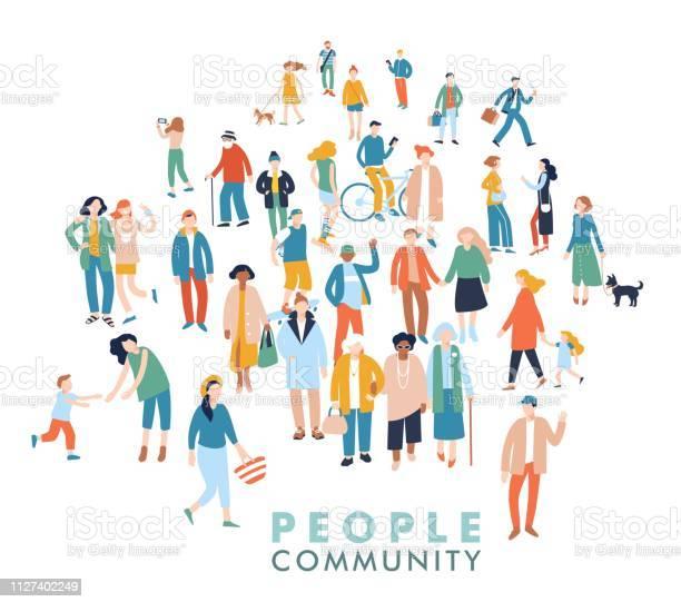 人々 の群衆の中に現代の多文化社会概念 - アフリカ民族のベクターアート素材や画像を多数ご用意
