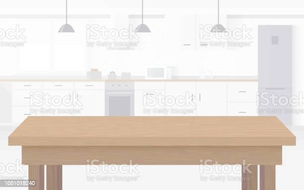 Modern Ny Ljus Interiör Kök Med Vita Möbler-vektorgrafik och fler bilder på Bildbakgrund