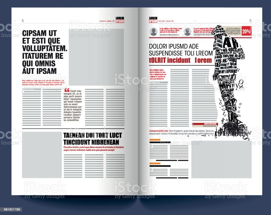 Plantilla De Periódico Moderno - Arte vectorial de stock y más ...