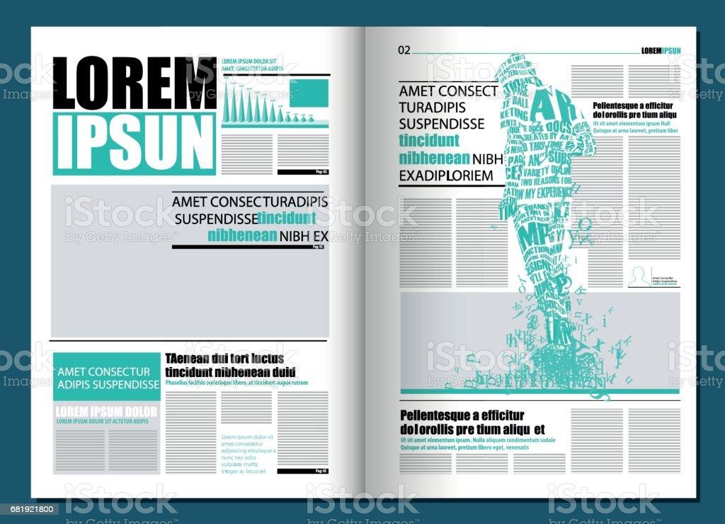 Modern Newspaper Template Stock Illustration - Download ...