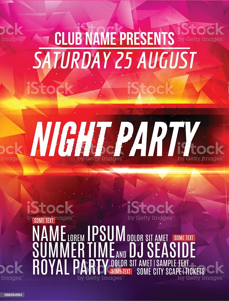 Modern night club music party template flyer brochure or poster modern night club music party template flyer brochure or poster royalty free modern night saigontimesfo