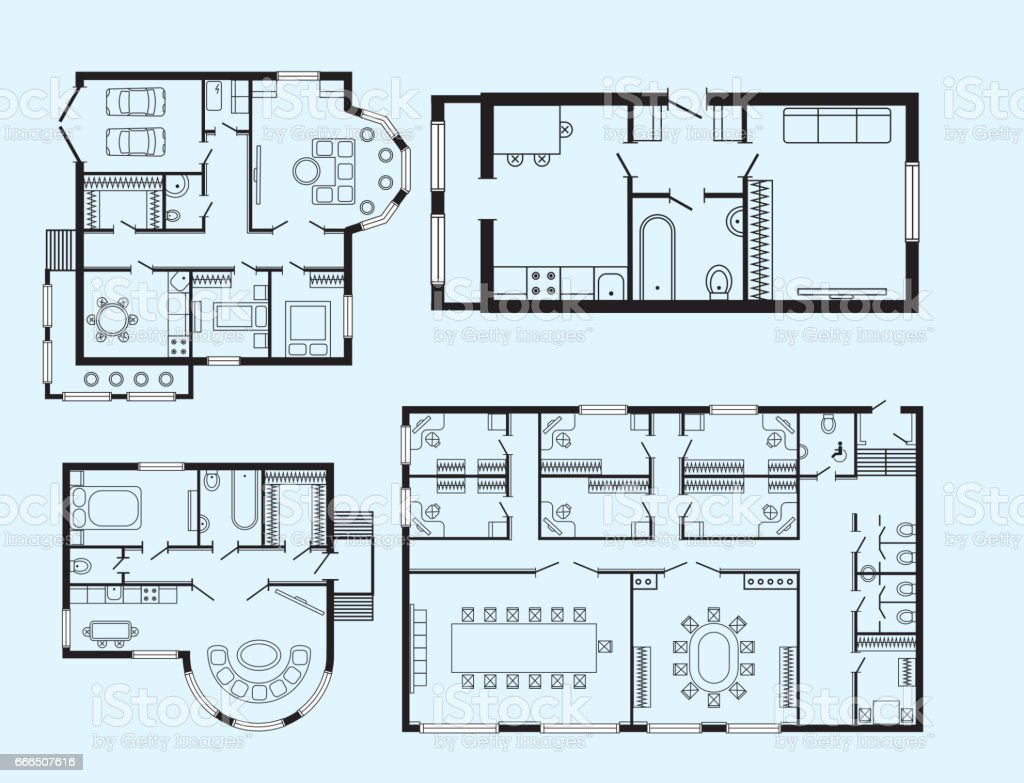 architect furniture. Modern Office Architectural Plan Interior Furniture And Construction Design Drawing Project Royalty-free Architect M