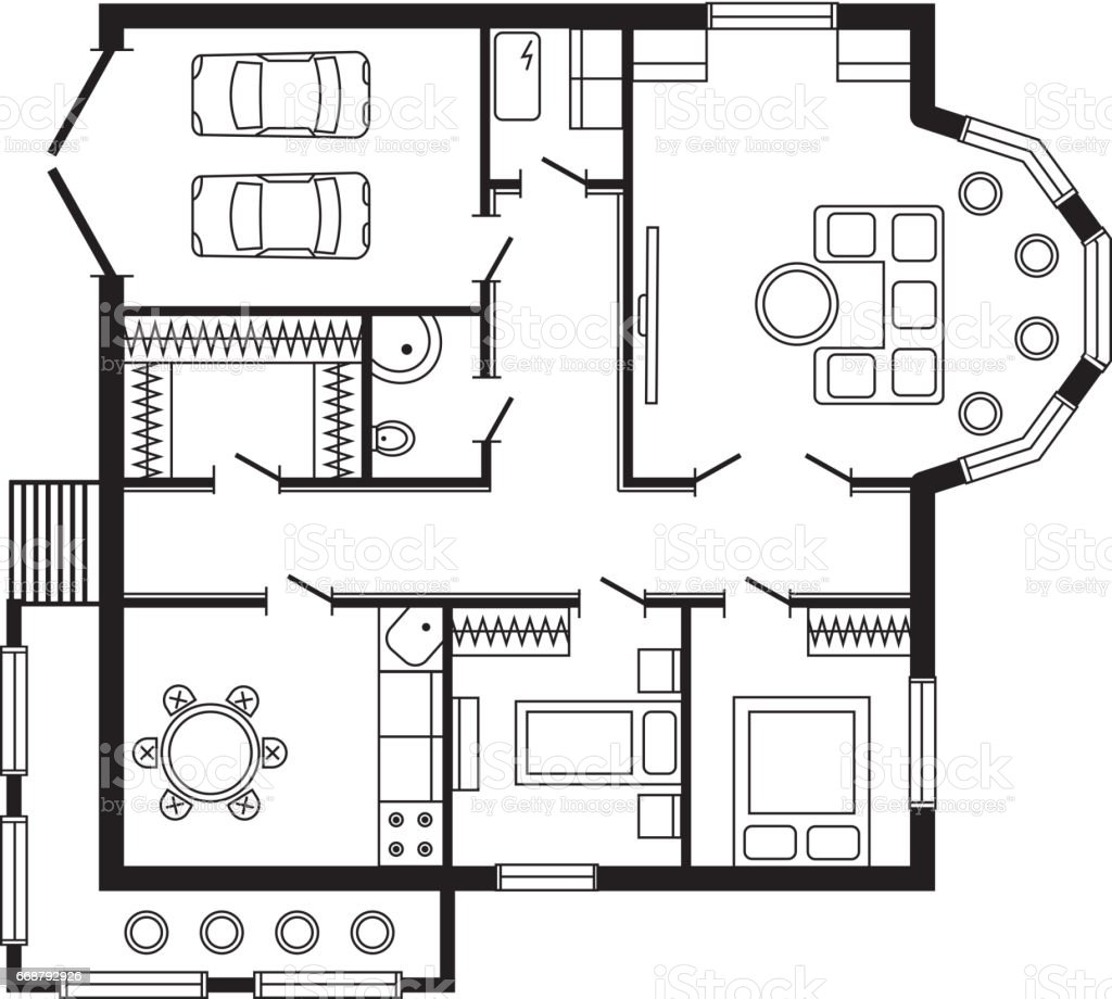 Bon Modern Office Architectural Plan Interior Furniture And Construction Design  Drawing Project Royalty Free Modern Office