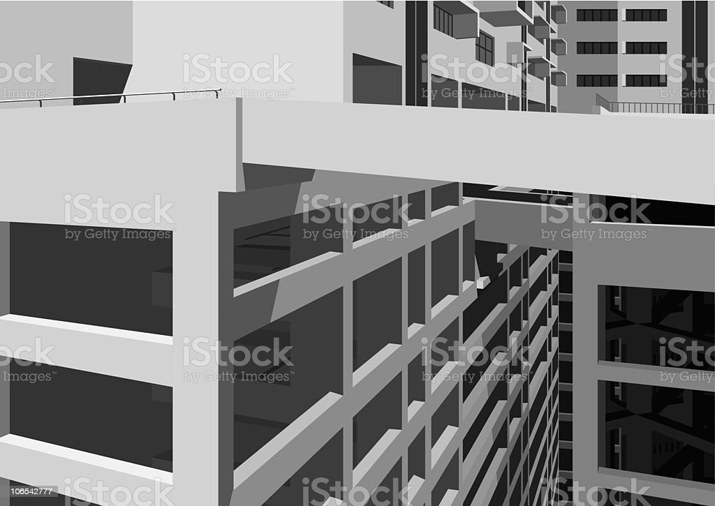 modern office building of city royalty-free stock vector art