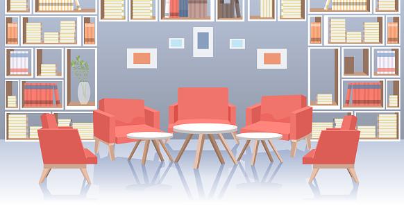 modern office lobby hall interior social distancing coronavirus epidemic protection self isolation