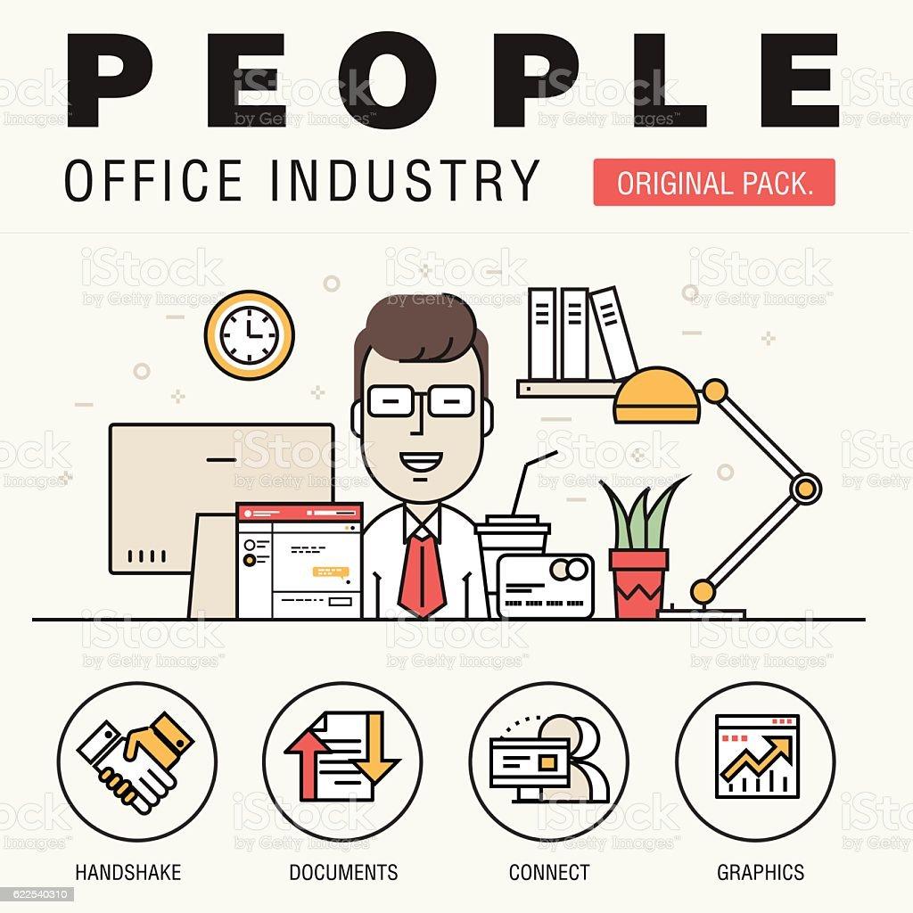 Modern office people industry. royalty-free modern office people industry  stock vector art &amp