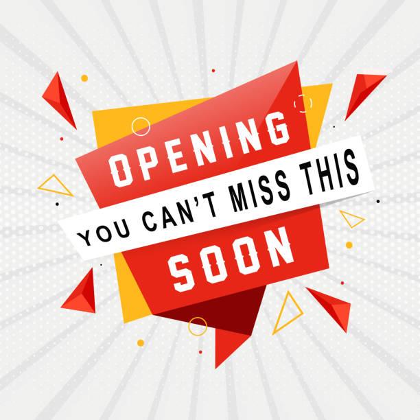 ilustraciones, imágenes clip art, dibujos animados e iconos de stock de fondo escuela de apertura moderna - gran inauguración