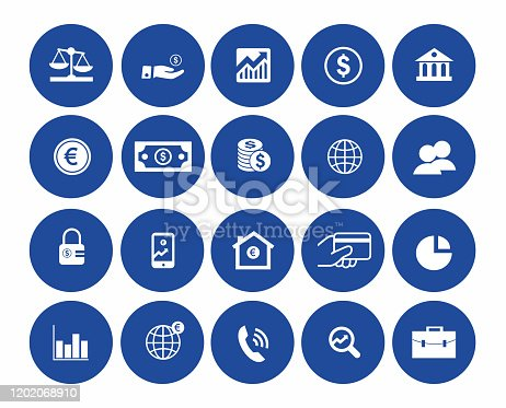 Modern outline elements, graphic design concepts. Stroke, linear style. Simple symbols collection. Vector line icons stock illustration, Finance line icons set.