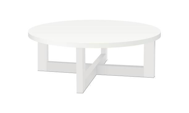 ilustrações de stock, clip art, desenhos animados e ícones de modern oval coffee table, tea table, isolated - coffee table