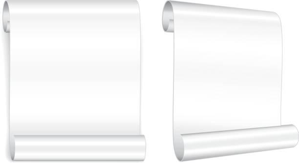 Modern paper scroll vector art illustration