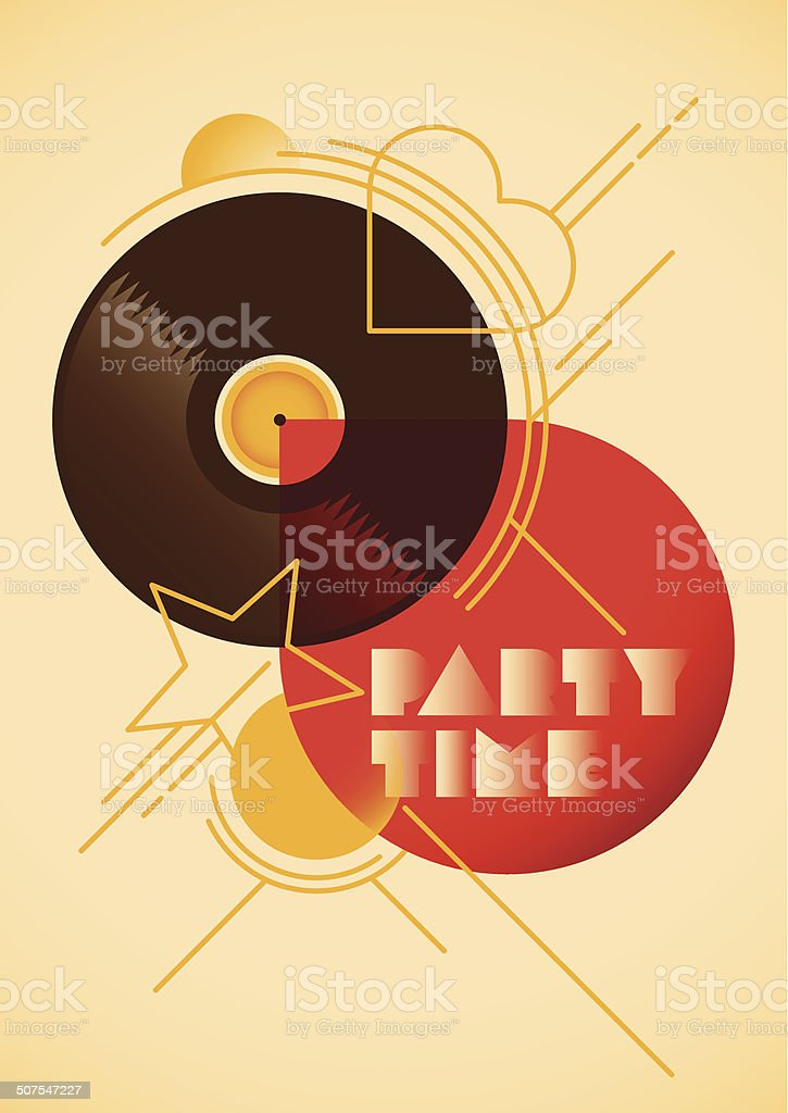 Modern party poster design. vector art illustration