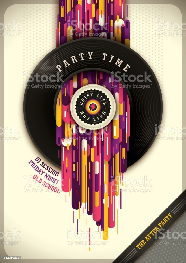 Modern party poster design. royalty-free modern party poster design stock vector art & more images of abstract