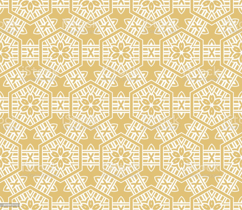 Modern Pattern Of Geometric Ornament Seamless Vector Illustration ...