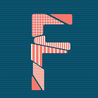 modern patterned cracked style alphabets vector illustration