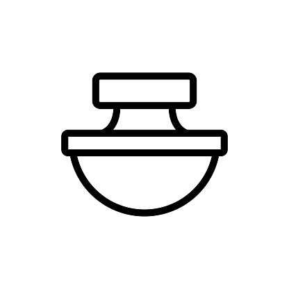 modern perfume icon vector. Isolated contour symbol illustration