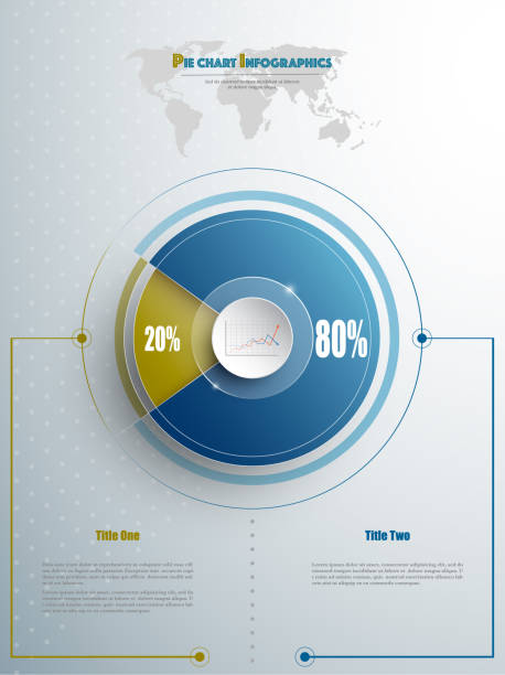 ilustrações de stock, clip art, desenhos animados e ícones de modern pie chart template in blue and olive color with glass in the center. background for your documents, web sites, reports, presentations and infographic - circular economy