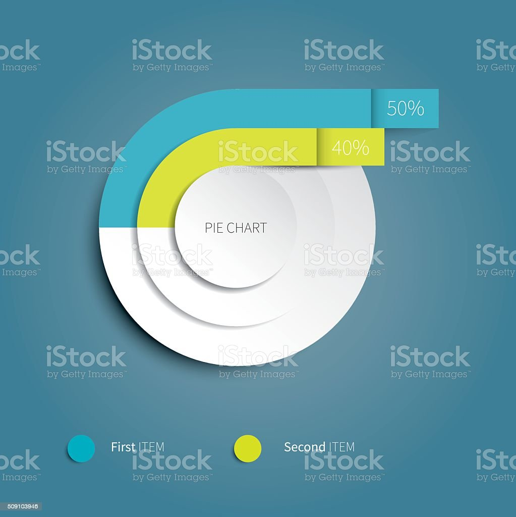 modern pie chart with 2 option stock vector art more images of