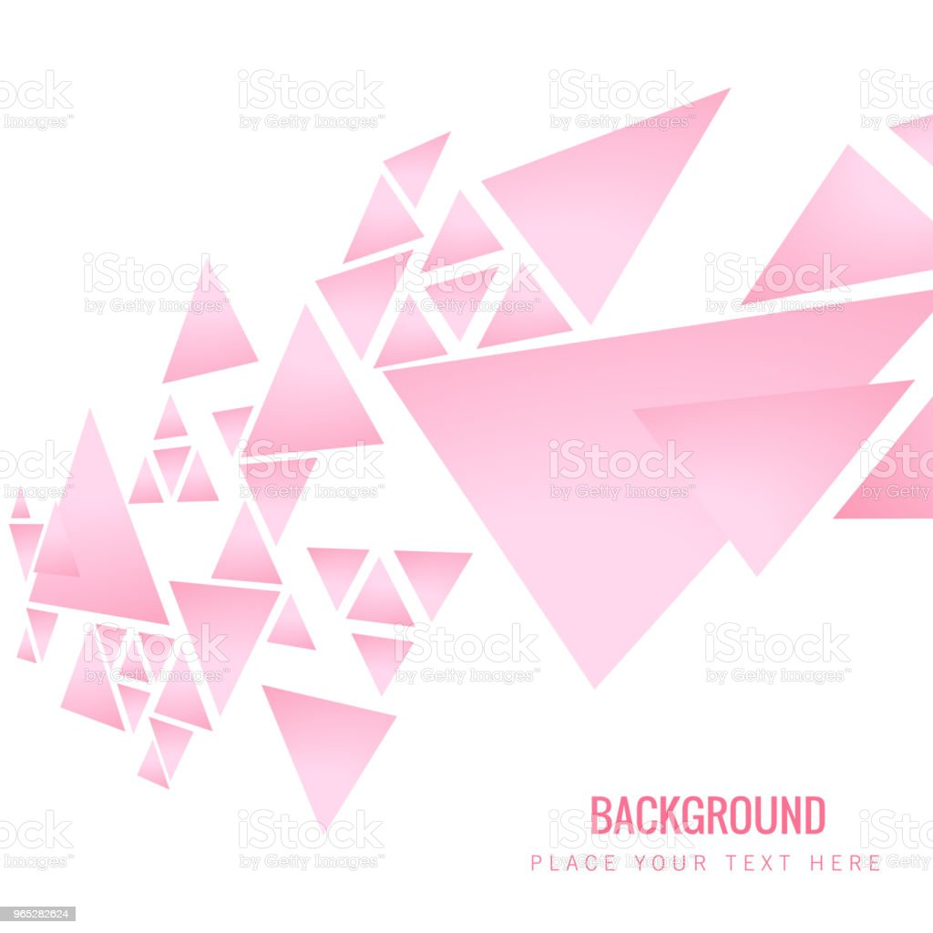 Modern Pink Triangle Pink Background Vector Image modern pink triangle pink background vector image - stockowe grafiki wektorowe i więcej obrazów abstrakcja royalty-free