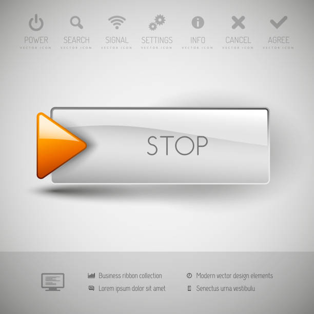 moderne kunststoff vektor-schaltfläche. - schlüsselfertig stock-grafiken, -clipart, -cartoons und -symbole