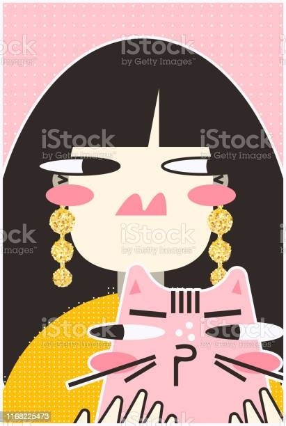Modern portrait of a girl with a cat vector id1168225473?b=1&k=6&m=1168225473&s=612x612&h=4bjld ntiebrv9 3vxyjzle8w333s7ophyfo4hjuhs8=