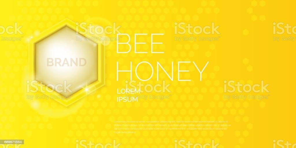 Moderne Plakat Für Den Verkauf Von Honig Vorlage Für Die Bienenzucht ...