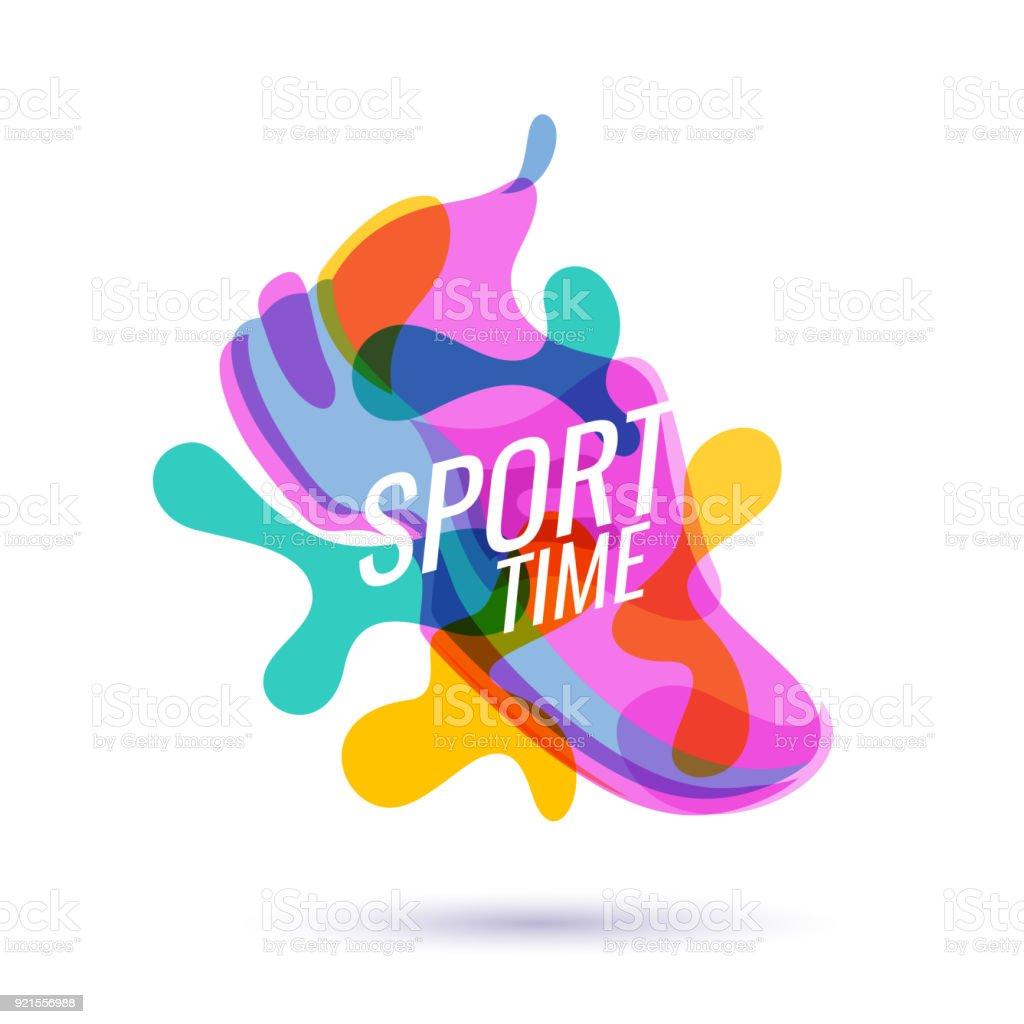 Cartaz moderno para esportes - ilustração de arte em vetor