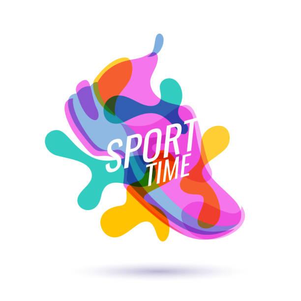 ilustrações, clipart, desenhos animados e ícones de cartaz moderno para esportes - tênis