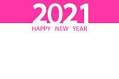 Modern poster happy new year 2021. Wind logo for calendar, postcard banner. Stock image. EPS10