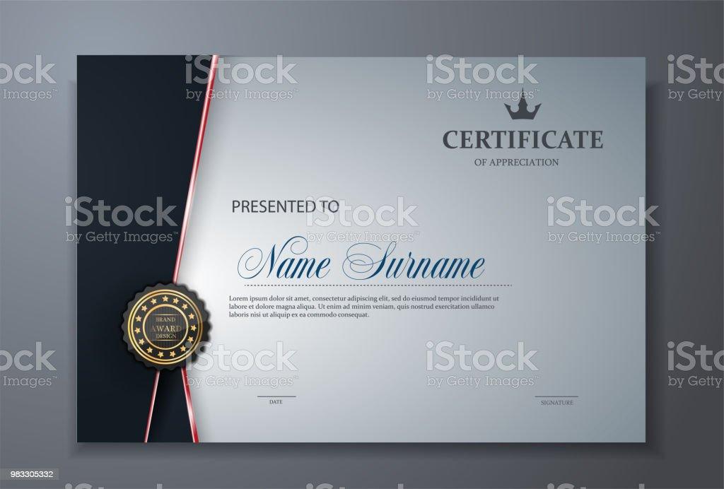modern premium certificate award design template vector art illustration
