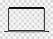 istock Modern premium laptop vector mockup on transparent background 1178375326