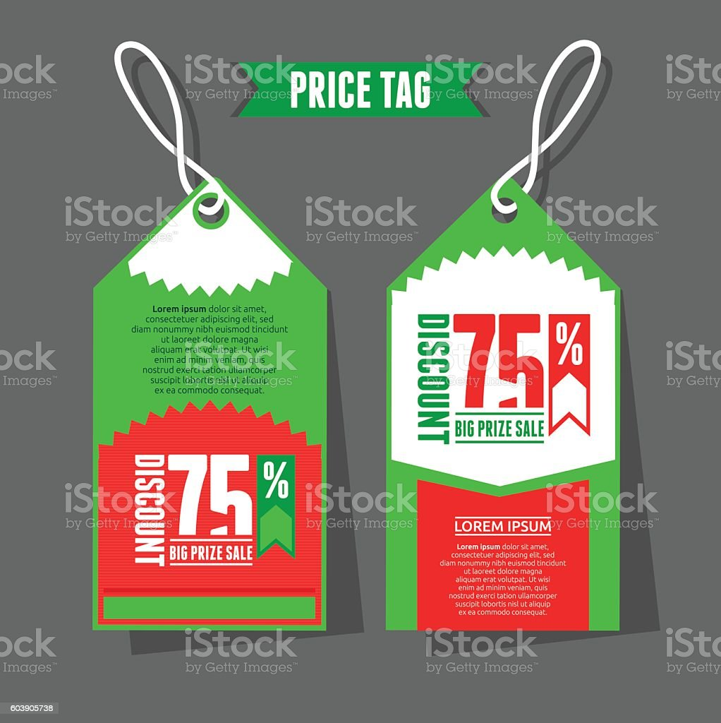 modern price tag template のイラスト素材 603905738 istock