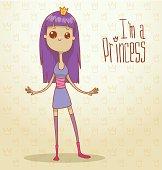 Modern princess with violet hair