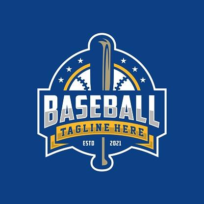 Modern professional baseball template icon design for baseball club
