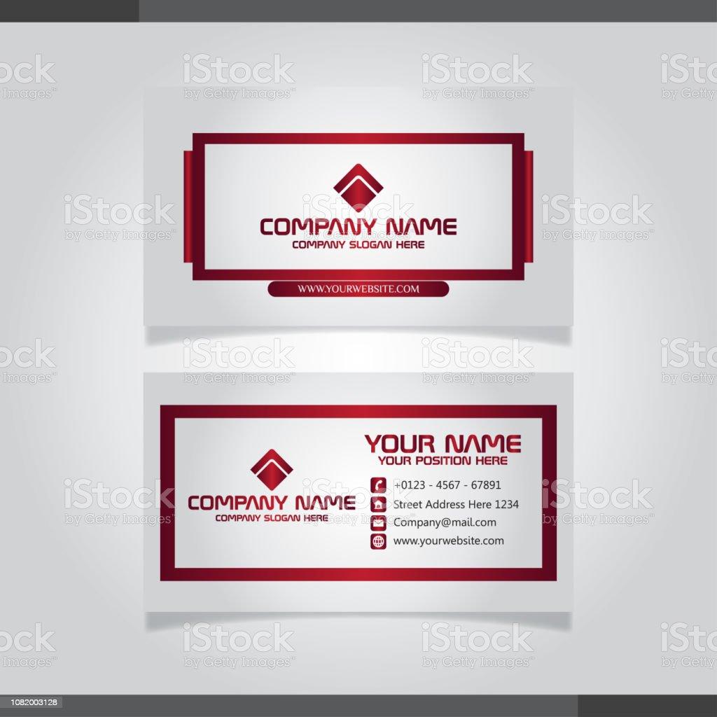 Moderne Professionelle Visitenkarten Stock Vektor Art Und