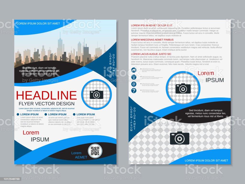 modern professional business flyer vector template stock vector art