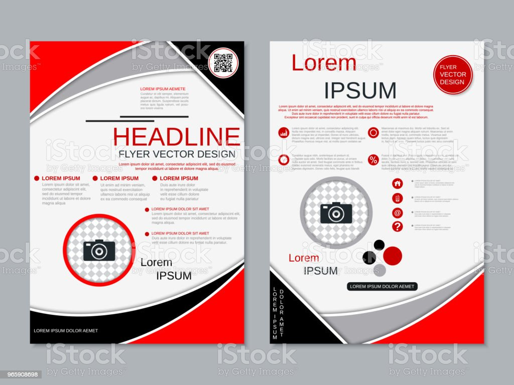Modern professional business flyer vector template - Royalty-free Brochura arte vetorial