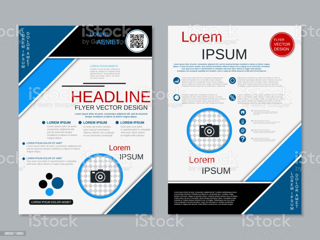 Sjabloon voor moderne professionele folder vector - Royalty-free Advertentie vectorkunst