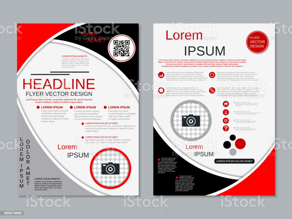 Modern professional business flyer vector template - Royalty-free Advertisement stock vector