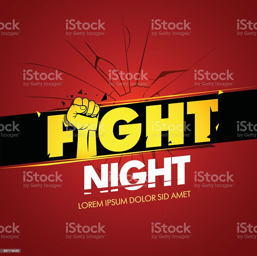 modern professional fighting poster template logo design with fist