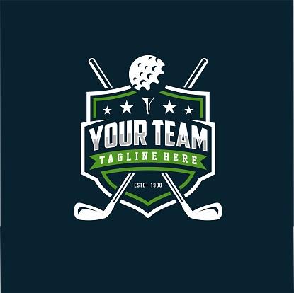 Modern professional golf design vector template for golf club