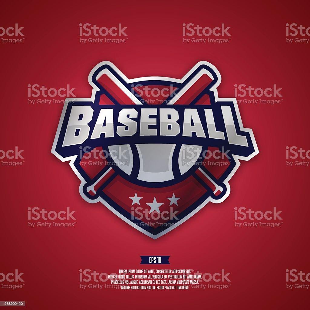 Modern professional logo for a baseball team. vector art illustration