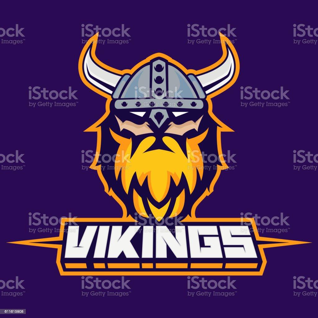 131b682c Modern Professional Logo For Sport Team Viking Mascot Vikings Vector ...